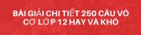 Bài Giải Chi Tiết 250 Câu Vô Cơ Lớp 12 Hay Và Khó